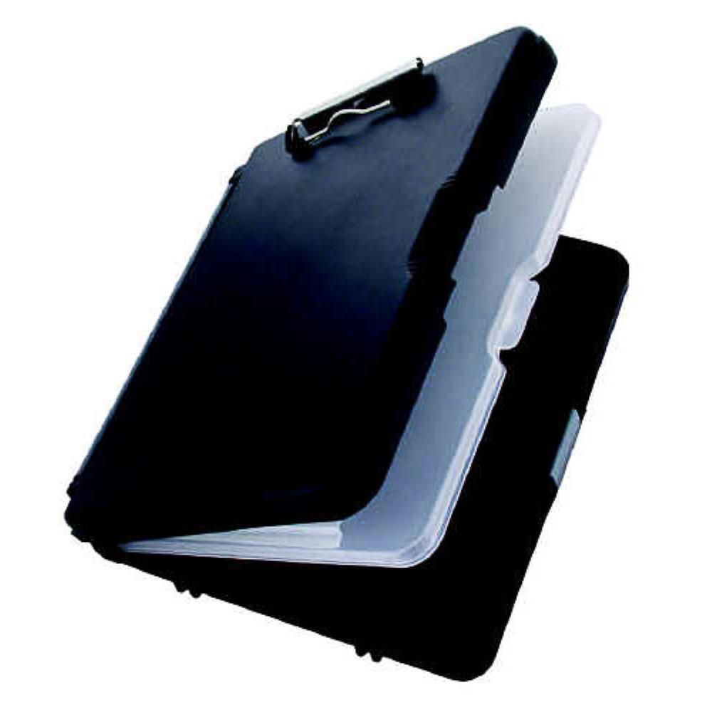 00552 WorkMate II; Black/Charcoal Polypropylene Form Holder Clipboard; Side Opening; A4 Saunders-Normal-Prospectors