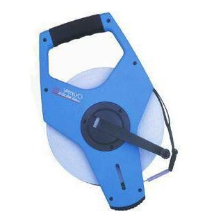 100 metre X 10mm Yamayo Stilon Nylon Coated Steel Measuring Tape with High Speed Winder ABS Open R - prospectors.com.au