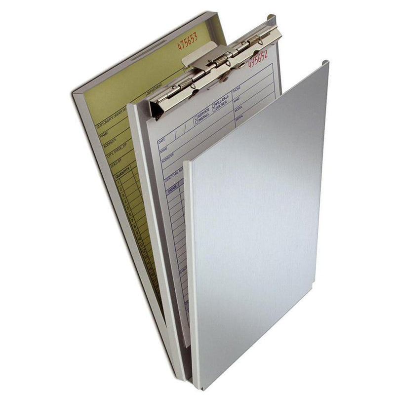 10007 A-Holder; Recycled Aluminium Form Holder Clipboard; Top Opening; A5 Saunders - prospectors.com.au