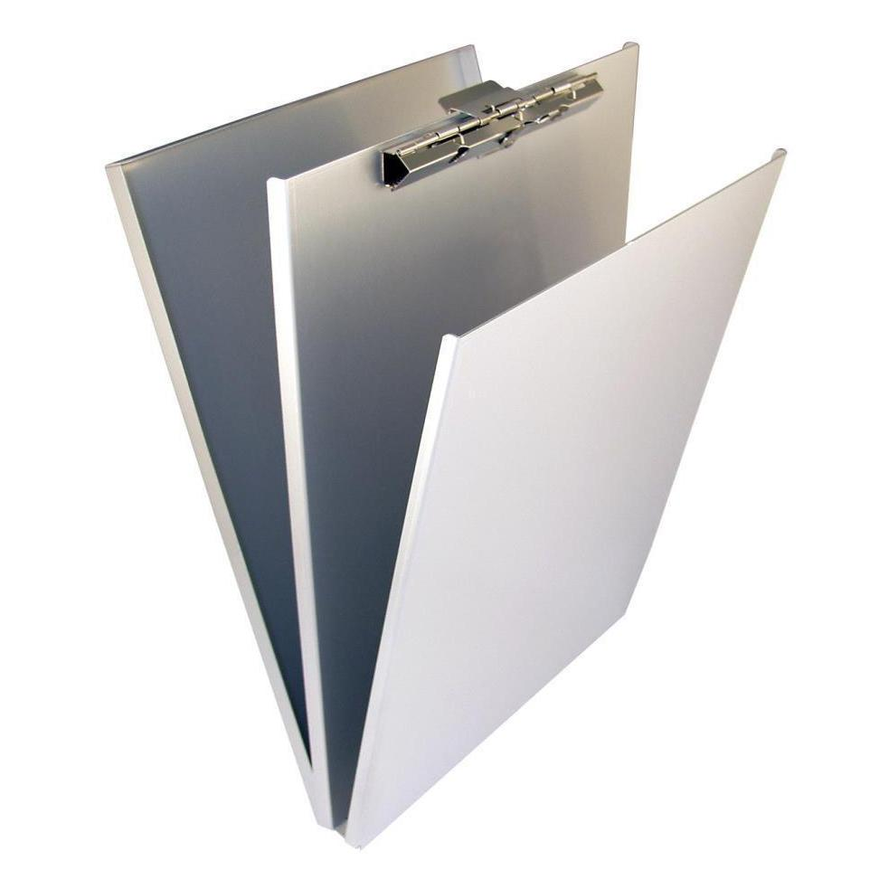 10017 A-Holder; Recycled Aluminium Form Holder Clipboard; Top Opening; A4 Saunders