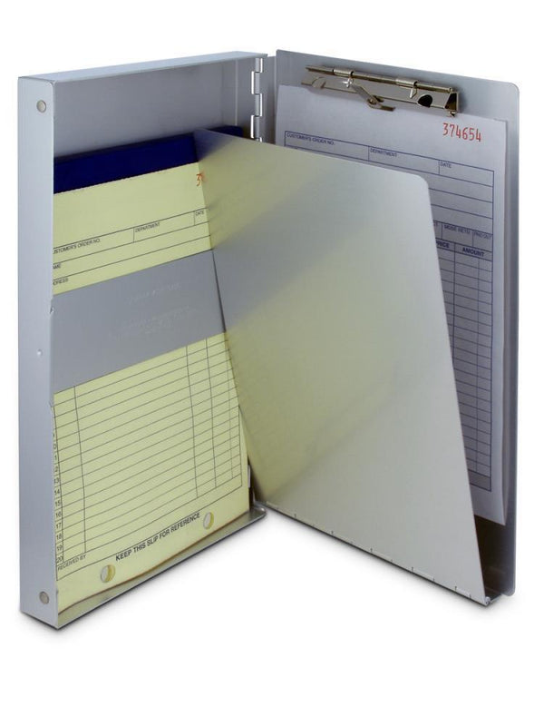 10507 snapak  recycled aluminium form holder clipboard  side opening