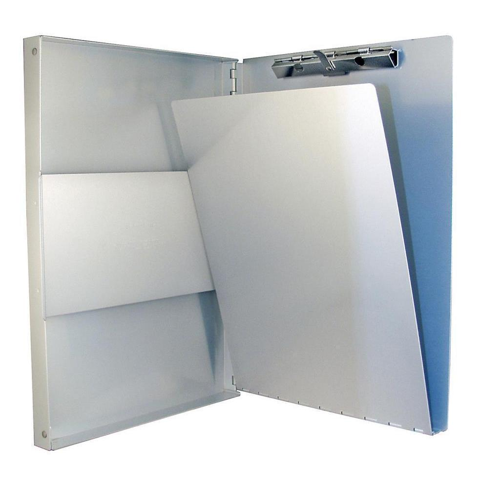10517 Snapak; Recycled Aluminium Form Holder Clipboard; Side Opening; A4 Saunders