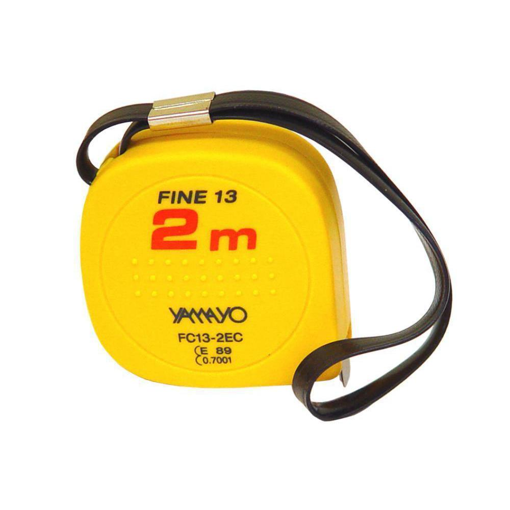 2 metre X 13mm Yamayo Fine 13 Convex Free Return Steel Pocket Measuring Tape with Acrylic Resin Case