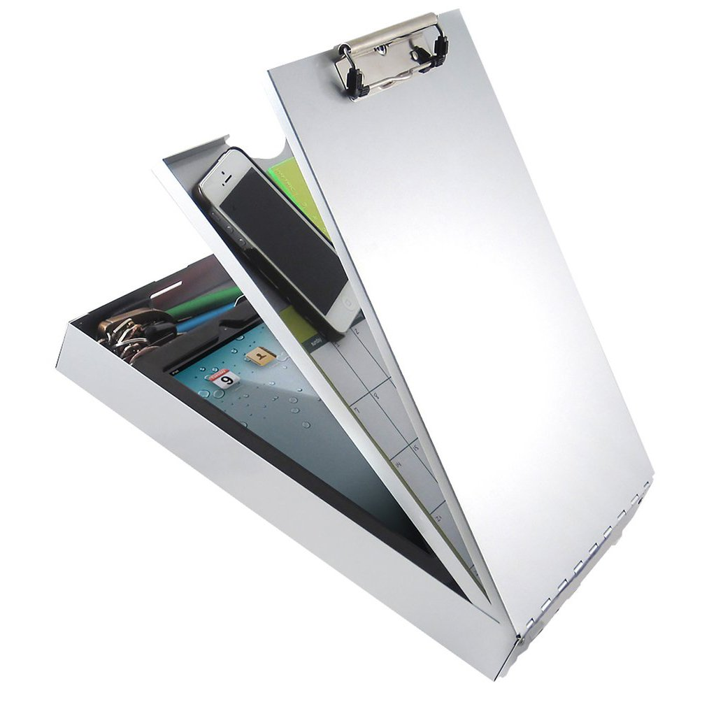 21118 Cruiser-Mate II; Recycled Aluminium Form Holder Clipboard; top Opening; A4 Saunders