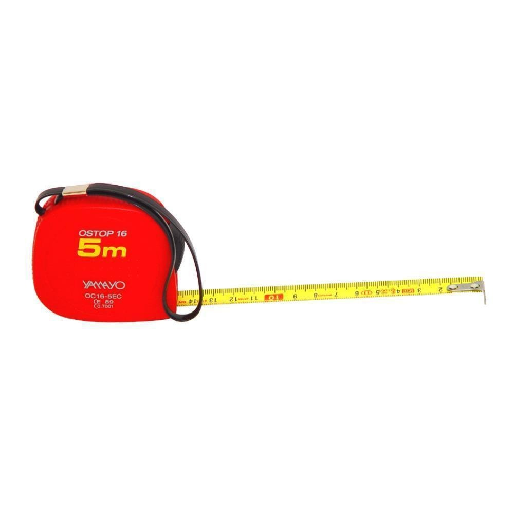 5 metre 16mm Yamayo Ostop Pocket Steel Tape Measure ABS Case Tape Lock