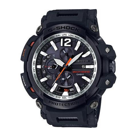 Casio G Shock GPS Gravitymaster Watch  GPW2000 series-  Bluetooth function, GPS Hybrid Black Face/ Black Resin Band Watch