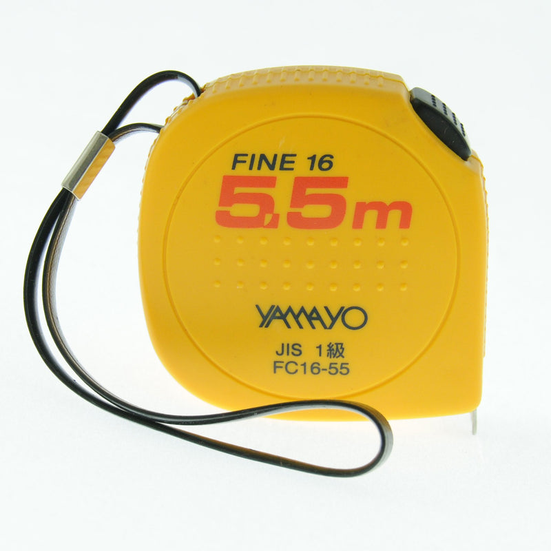 5.5 metre X 16mm Yamayo Fine 16 Convex Free Return Steel Pocket Measuring Tape with Acrylic Resin - prospectors.com.au
