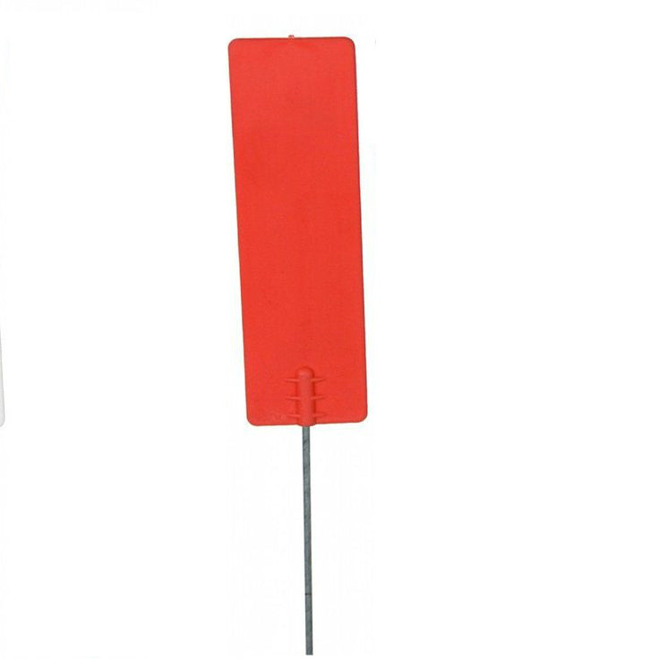 Bundle of 100 Plastic Survey Flags Water Proof Red Flag Markers