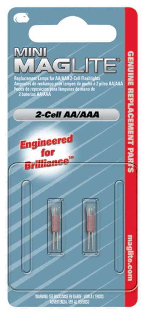 AA Lamp Mini Maglite Pack of 2 2Cell Xenon-Normal-Prospectors