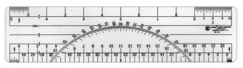 C Thru Protractor Ruler W42-Normal-Prospectors