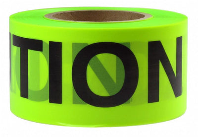 Caution Fluorescent Barricade Tape Presco 75mm Wide; 152m Long-Normal-Prospectors