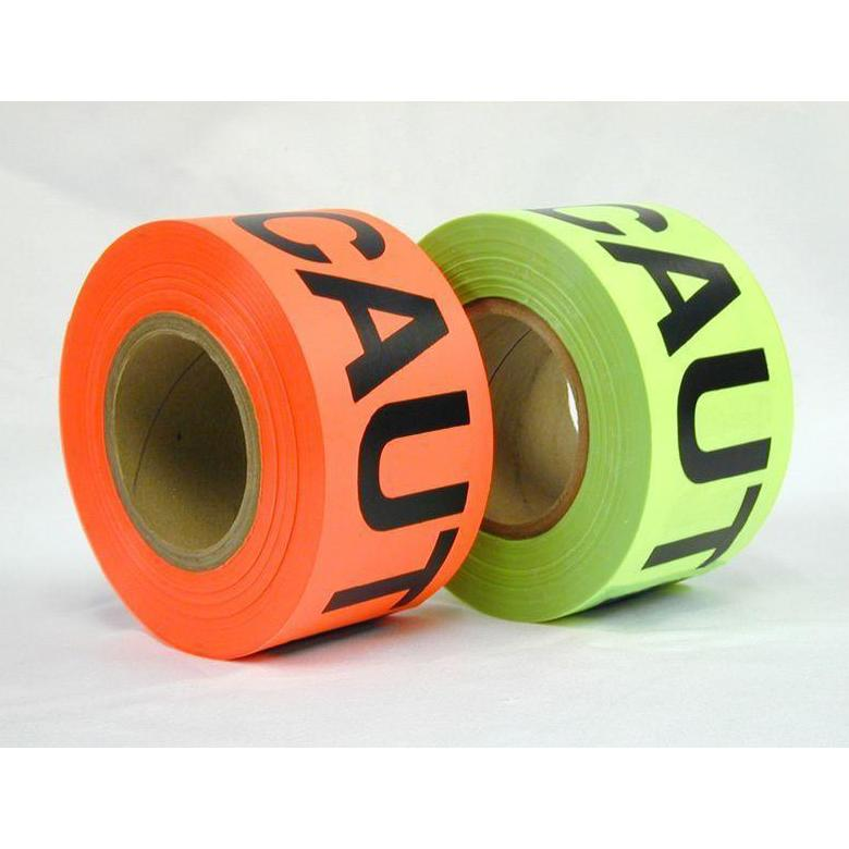 Caution Fluorescent Barricade Tape Presco 75mm Wide; 152m Long