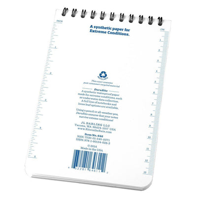 DuraRite 646, Waterproof Universal Polydura Notebook, 102mm x 152mm