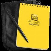 Rite in the Rain All Weather 146B-Kit Yellow Pocket Notebook Black Pen Tan Cordura Cover 102 x 152mm