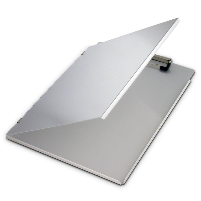 Portfolio with Privacy Cover Heavy Duty Aluminium Side Opening Clipboard A4 Saunders