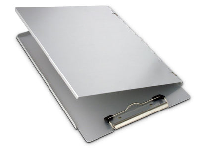Portfolio with Privacy Cover Heavy Duty Aluminium Side Opening Clipboard A4 Saunders-Normal-Prospectors