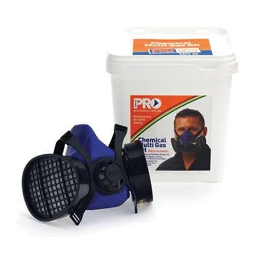 ProChoice Chemical Respirator Kit, Assembled Half Mask with ABEK1 Cartridges with Reusable Bucket-Normal-Prospectors