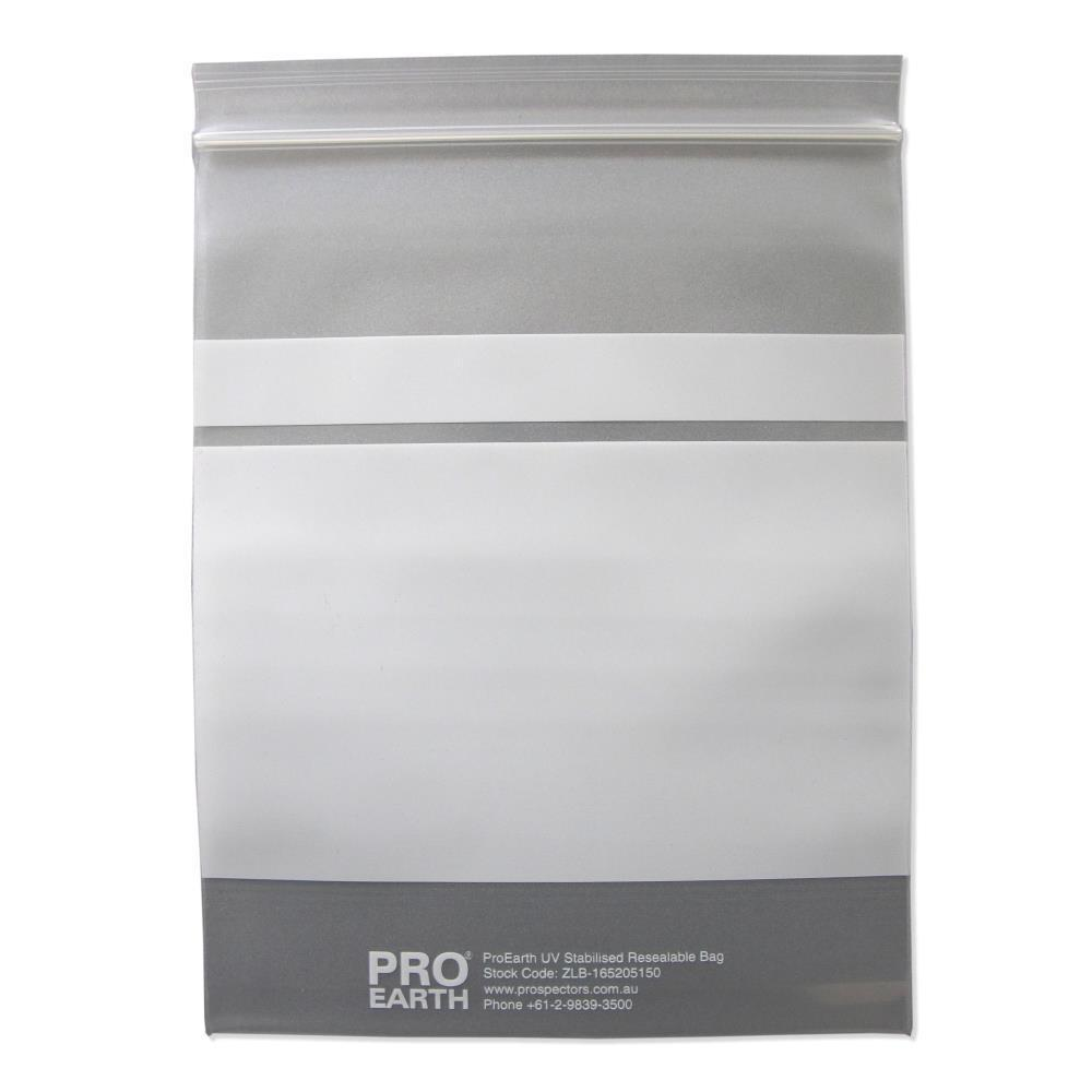 ProEarth UV Stabilised Zip Lock Plastic Bags with Patch 165 X 205mm X 150um 100 Bags-Normal-Prospectors