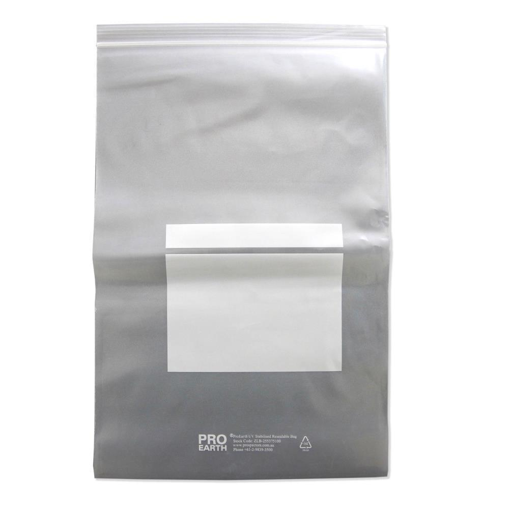 ProEarth UV Stabilised Zip Lock Plastic Bags with Patch 255 X 375mm X 100um 100 Bags