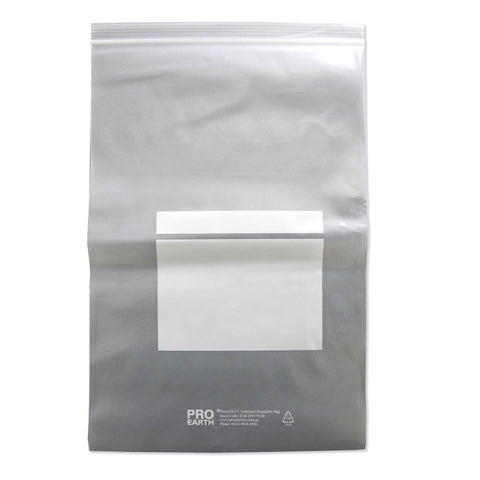 ProEarth UV Stabilised Zip Lock Plastic Bags with Patch 255 X 375mm X 100um 100 Bags-Normal-Prospectors
