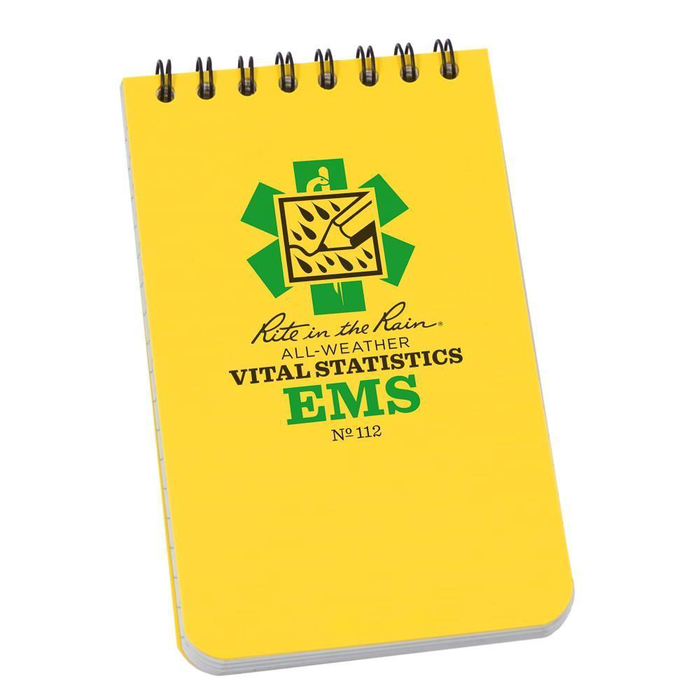 Rite in the Rain 112, All Weather EMS Vital Stats Polydura Notebook, 76mm x 127mm