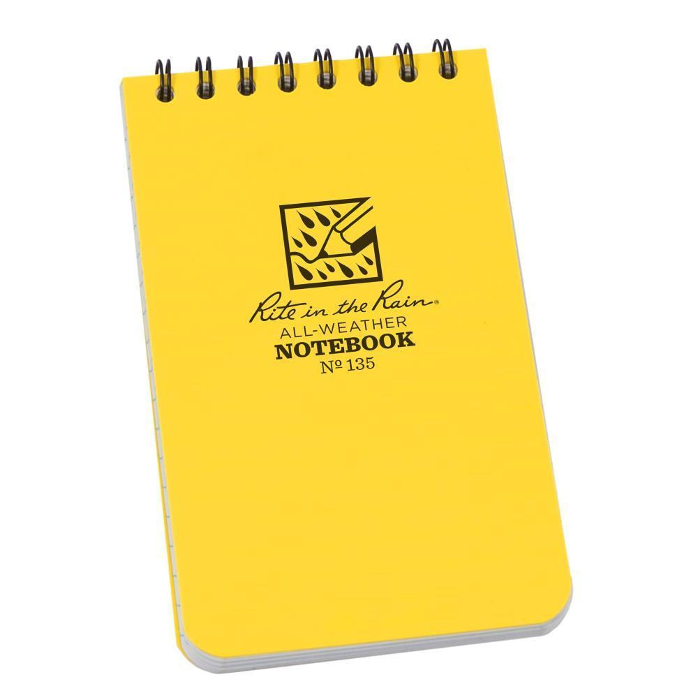 Rite in the Rain 135, All Weather Universal Polydura Notebook, 76x127mm