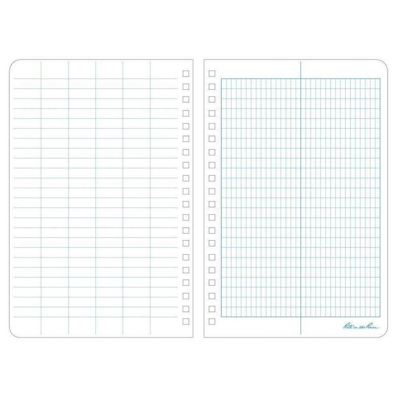 Rite in the Rain 303, All Weather Transit Polydura Notebook, 117mm x 177mm-Normal-Prospectors