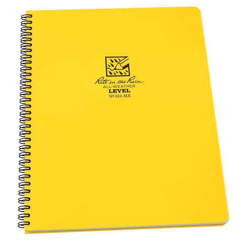 Rite in the Rain 313-MX, All Weather Level Polydura Maxi Book, 216mm x 279mm-Normal-Prospectors
