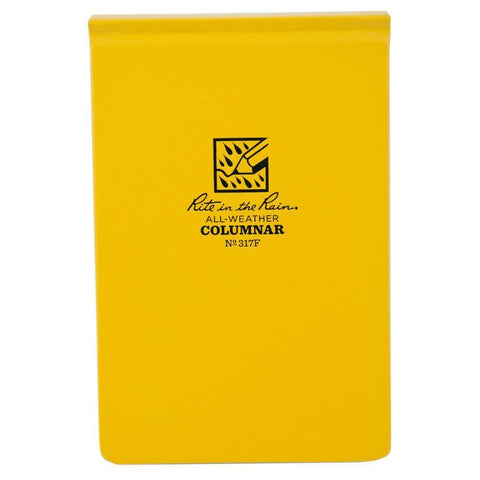 Rite in the Rain 317F, All Weather Columnar Surveyors Fabrikoid Field Book, 125mm x 190mm-Normal-Prospectors