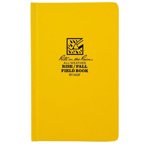Rite in the Rain 320F, All Weather Rise & Fall Surveyors Fabrikoid Field Book, 120mm x 190mm ((clearance item))-Normal-Prospectors