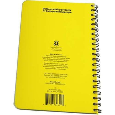Rite in the Rain 393, Al Weather Journal Polydura Notebook, 117mm x 177mm-Normal-Prospectors