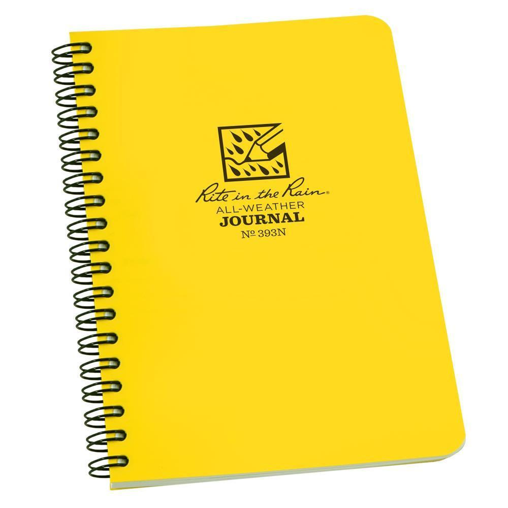 Rite in the Rain 393N, All Weather Numbered Journal Polydura Notebook, 117mm x 177mm