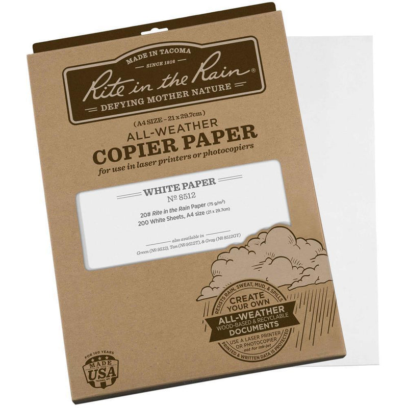 Rite in the Rain 8512, All Weather Copier Paper, 200 A4 Sheets, 210mm x 297mm-Normal-Prospectors