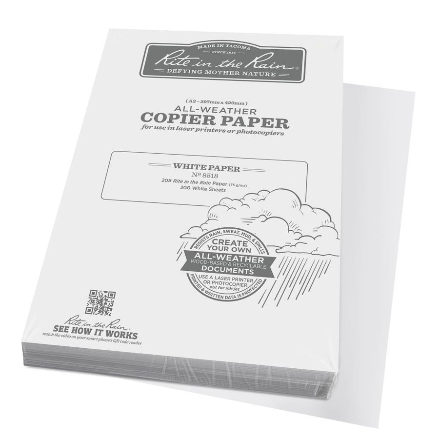 Waterproof copy paper 100 waterproof paper for printing use rite in the rain 8518 a3 all weather copier paper 200 sheets malvernweather Gallery