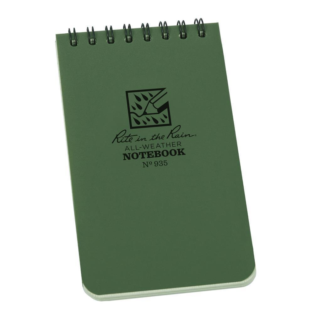 Rite in the Rain 935, All Weather Green Universal Polydura Notebook, 76mm x 127mm-Normal-Prospectors
