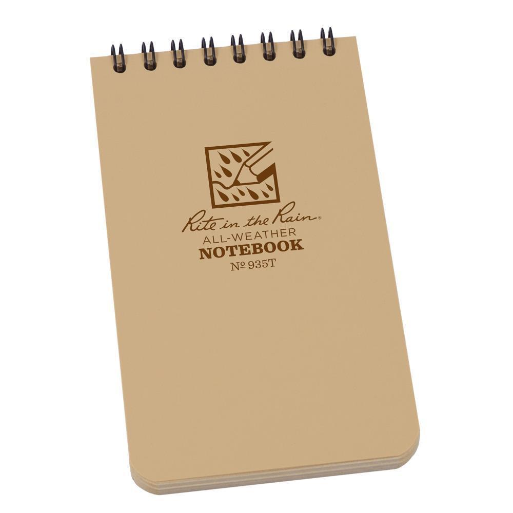 Rite in the Rain 935T, All Weather Tan Universal Pocket Notebook, 76mm x 127mm-Normal-Prospectors