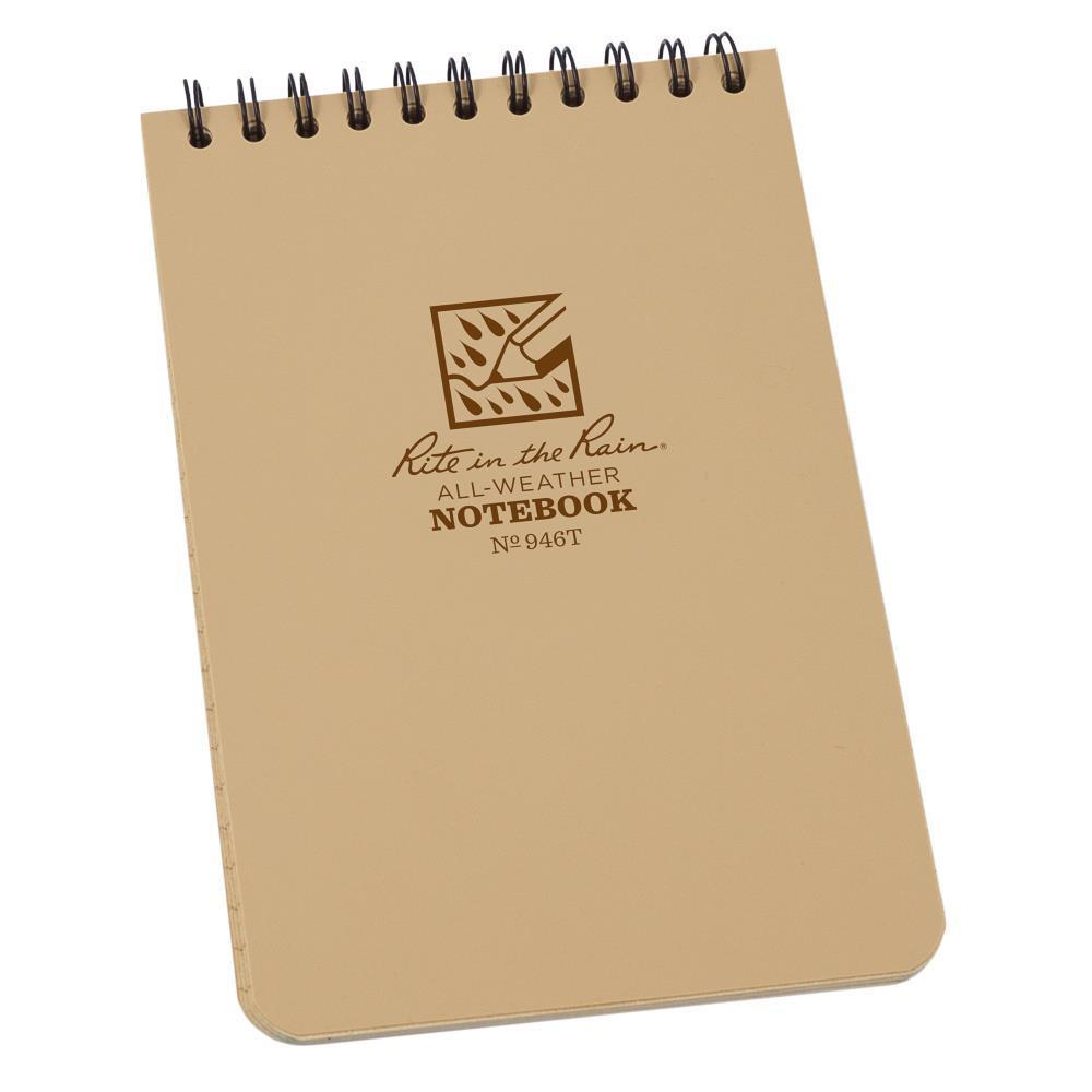 Rite in the Rain 946T, All Weather Tan Universal Polydura Notebook, 102mm x 152mm-Normal-Prospectors