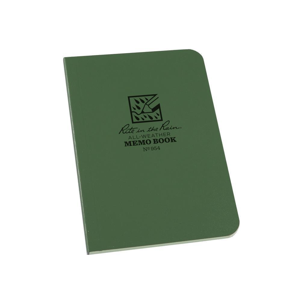Rite in the Rain 954, All Weather Green Universal Field-Flex Memo Book, 89mm x 127mm-Normal-Prospectors