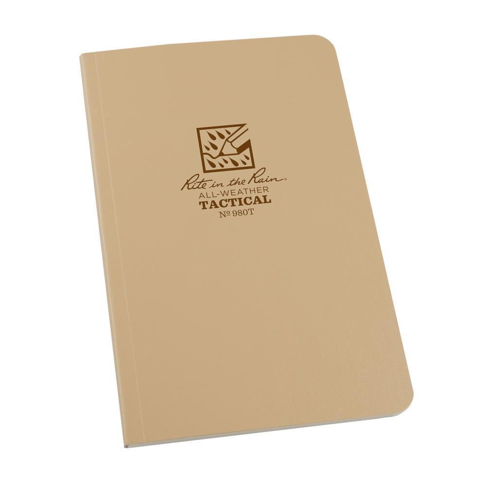 Rite in the Rain 980T, All Weather Tan Universal Field-Flex Field Book, 117mm x 184mm-Normal-Prospectors