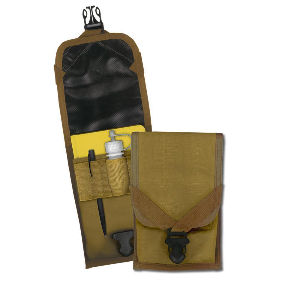 Rite in the Rain C540F, All Weather Tan Fabric Cordura Field Belt Pouch, 120mm x 228mm