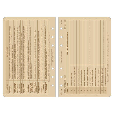 Rite in the Rain 952T, All Weather 9 Line Medevac Tan Loose Leaf Sheets, 117mm x 177mm