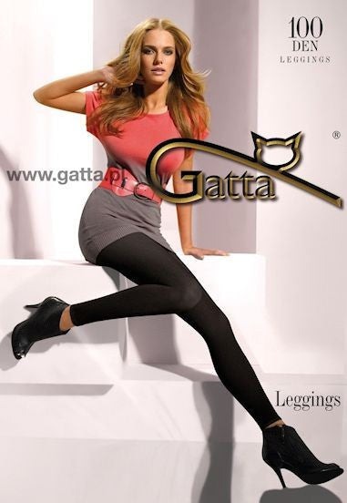 100 Denier Microfibre Opaque Leggings by Gatta