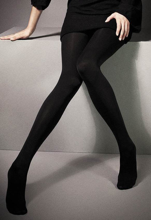 300 Denier Cotton Rich Opaque Tights by Veneziana