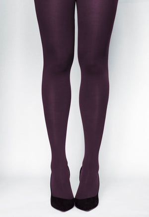 Ave 70 Denier Matte Opaque Tights in Aubergine purple violet