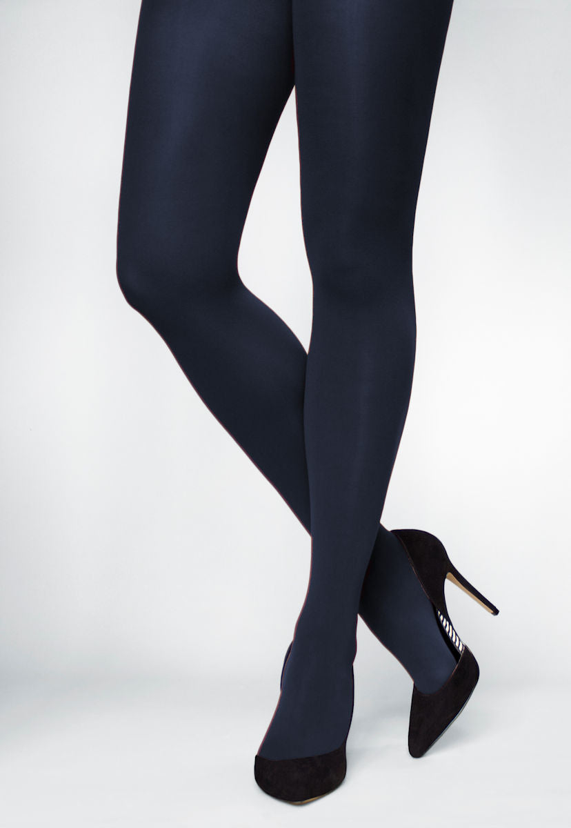 Ave 70 Denier Matte Opaque Tights in Marino navy blue