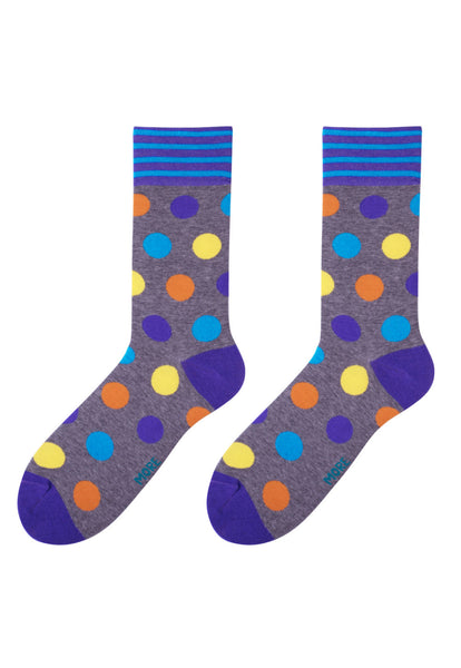 Big Dots Patterned Socks in Grey by More