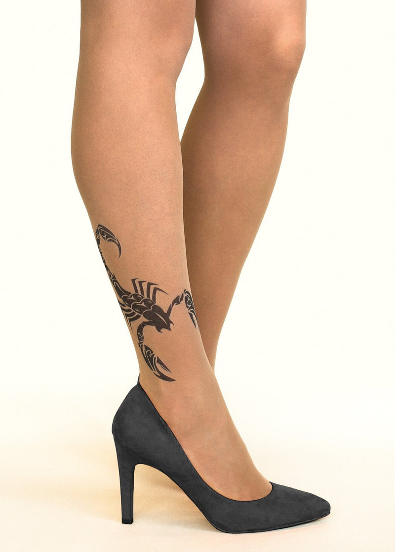 Black Scorpion Tattoo Tights by Stop & Stare