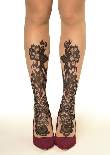 c3227c4920a Black Lace Tattoo Printed Sheer Tights at Ireland s Online Shop ...