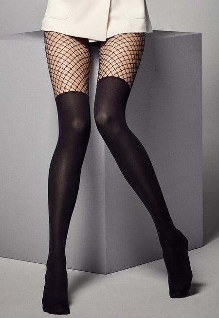 Vandita Fishnet Suspender Tights by Livia Corsetti