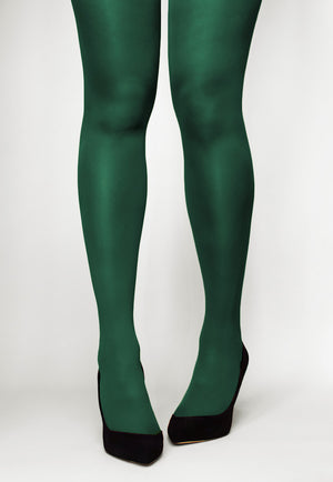 Concorde 60 Denier Coloured Opaque Tights in Bottiglia dark green